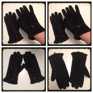 Ralph Lauren Suede Gloves - Black NWOT